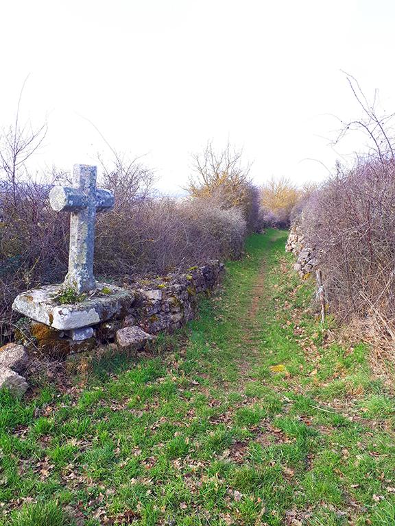 Saint Léons sentier et croix de pierre